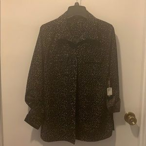 Notations size small women's button up blouse